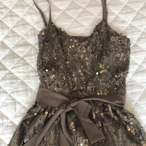 Express silver sequin dress. Size XS.